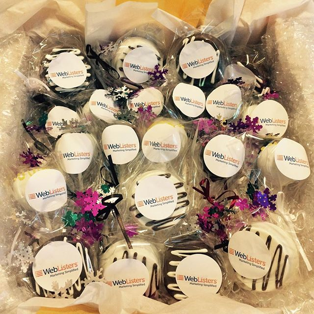 We Make The Most Delicious Corporate Gifts Annnnnnnd Ship Across USA Yay Weblisters Cake Cakepops Corporateevents Corporategift