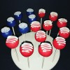 Cake pops for Election Day  #electionday #election2016 #cakepops #vote #havesomesugartotaketheedgeoff #peace #usa